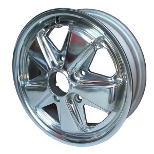 911 style wheel, polished15 x 4.55 lug (5x130)ET +45 - Exterior - Wheel rims and accessories - Porsche 911 style polished wheel  - Flat 4