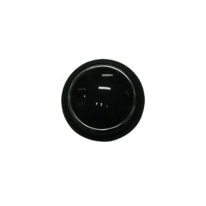 Horn button, black - Interior - Shifters and steering wheels - Horn accessories  - Generic