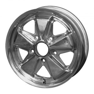 911 style wheel, polished15 x 5.55 lug (5x130)ET +45 - Exterior - Wheel rims and accessories - Porsche 911 style polished wheel  - Flat 4
