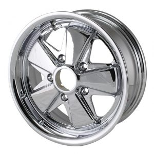 911 style wheel, chromeDEEP 6, 15 x 65 lug (5x130)ET +35 - Exterior - Wheel rims and accessories - Porsche 911 style chrome wheel  - Flat 4