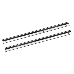 Doorsill, small, S/S, as pair - Interior - Upholstery and accessories - Chrome doorsill  - Generic