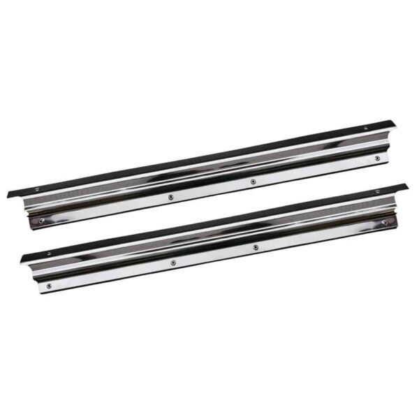 Doorsill, wide, S/S, as pair - Interior - Upholstery and accessories - Chrome doorsill  - Generic