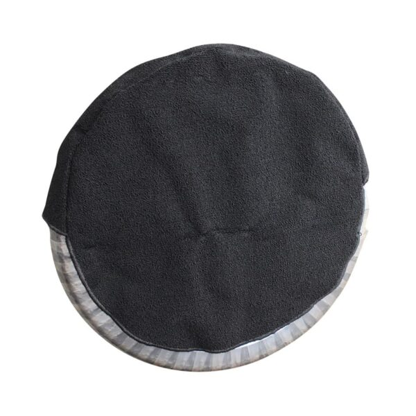 Spare wheel cover, black, curled carpet material - Interior - Trunk clothing - Spare wheel cover  - Generic