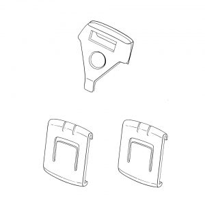 Seat rail bushings, for 1 seat, 3 pieces - Interior - Seats and accessories - Seat rail bushings  - Generic