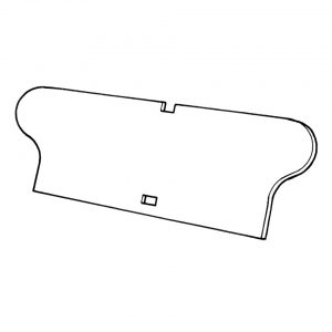 Rear seat panel - Interior - Seats and accessories - Seat panels  - Generic