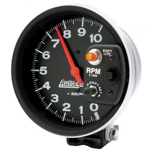 Revolution counter AutometerAuto Gage10.000 Rpminternal switch-lampØ 5 inch (125 mm) - Electrical section - Autometer - Autometer instruments  - Generic