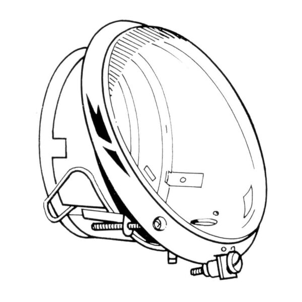 Headlight USA - Electrical section - Headlights and accessories - Sloping headlights  - Generic