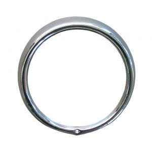 Chrome headlight ring (iron) with regulator screw on the lamp (like n° 0613 & 0613-1) and for American style Sealed Beam - Electrical section - Headlights and accessories - Headlight ring  - Generic