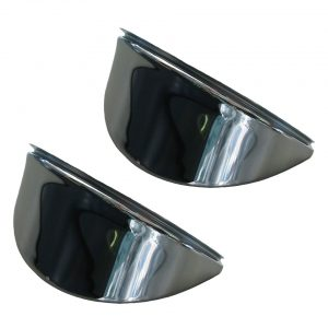 Eyebrows, chrome, smooth - Electrical section - Headlights and accessories - Eyebrows and headlight covers  - Generic