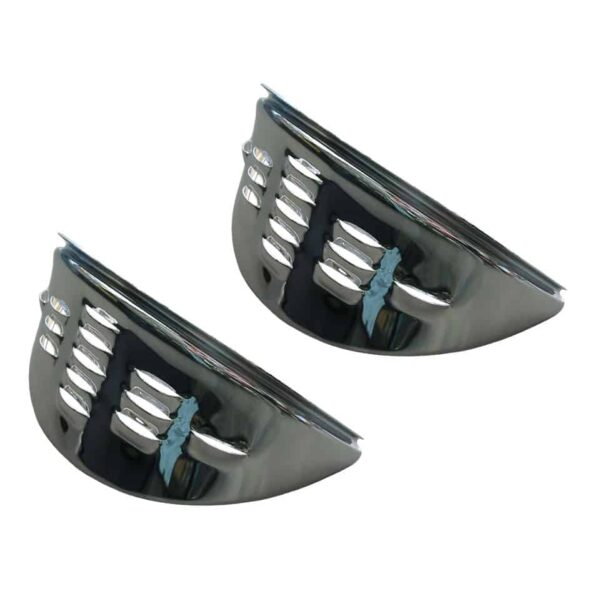 Eyebrows with louvers, chrome - Electrical section - Headlights and accessories - Eyebrows and headlight covers  - Generic