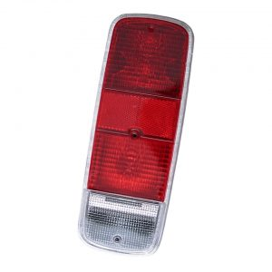 Tail light lens, red, economy, each - Electrical section - Lights and glasses - Tail lights  Bus  - Generic