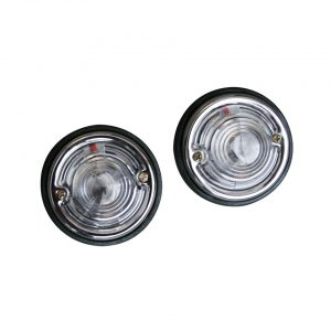 Round lights, white - Electrical section - Lights and glasses - Custom tail lights  - Generic